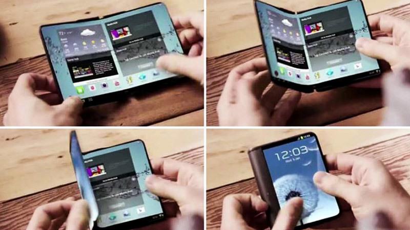 smartphone gập,Samsung,điện thoại Samsung,smartphone,triển lãm công nghệ