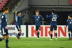 U23 châu Á: U23 Nhật Bản thắng chật vật Palestine