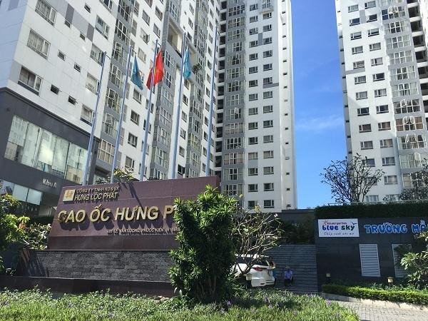 cao ốc Hưng Phát,tranh chấp chủ đầu tư và cư dân,chung cư bị thấm dột
