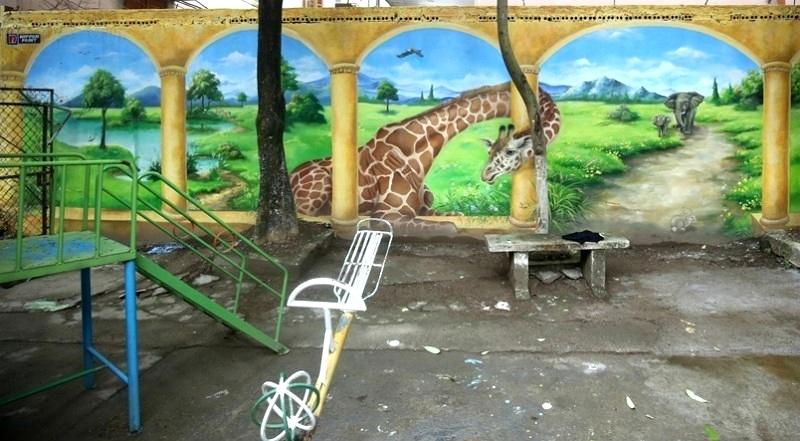 chung cư cũ,tranh 3D,tranh bích họa,Arts Build Communities