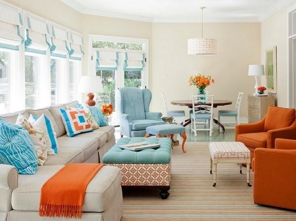 nhà đẹp,trang trí nhà,nội thất,nội thất màu cam