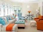 Làm ấm nhà mùa Đông nhờ sử dụng sắc cam trong trang trí nội thất