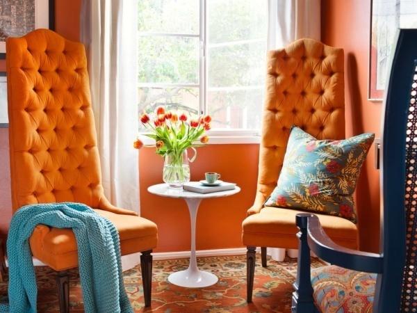 Làm ấm nhà mùa Đông nhờ sử dụng sắc cam trong trang trí nội thất - ảnh 10