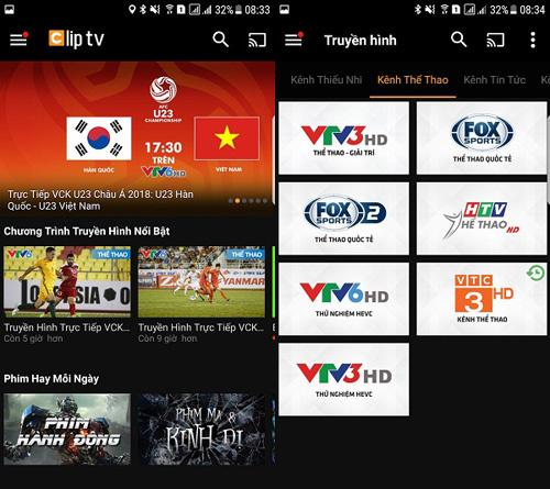 Thỏa sức xem U23 châu Á trên Clip TV