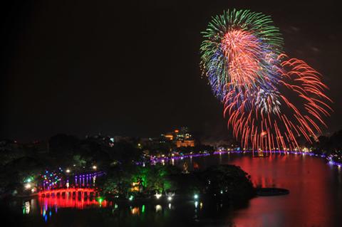 pháo hoa,Tết Âm lịch 2018,Tết Nguyên đán 2018,Tết 2018,Hà Nội