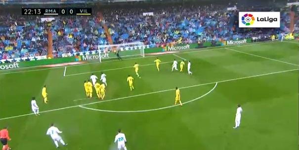 Real 0-0 Villarreal: Ronaldo sút phạt phút 23