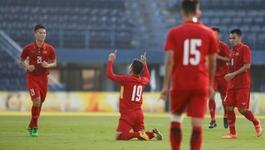 """Xem """"bàn thắng vàng"""" của Quang Hải vào lưới U23 Australia"""