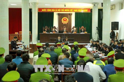 Hình ảnh phiên tòa xét xử Trịnh Xuân Thanh và đồng phạm 15/1