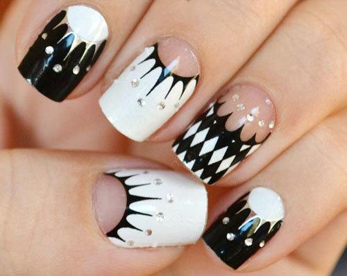 nail đen trắng
