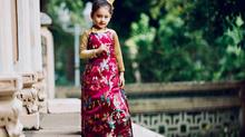 Siêu mẫu nhí Mona Bảo Tiên diện áo dài cực đáng yêu