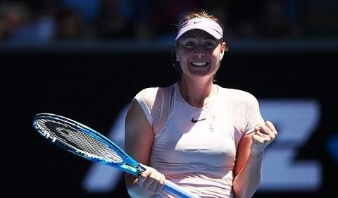 Sharapova thắng dễ ở trận ra quân Australian Open 2018