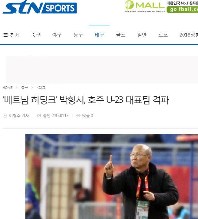"""Báo Hàn Quốc víHLVParkHang Seo là """"phù thủy Hiddink ViệtNam"""""""