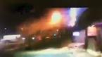 Ô tô mất lái bay như tên lửa lên tầng 2 toà nhà