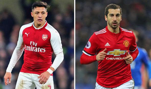 Mkhitaryan,Alexis Sanchez,MU,Arsenal,Aubameyang,Liverpool