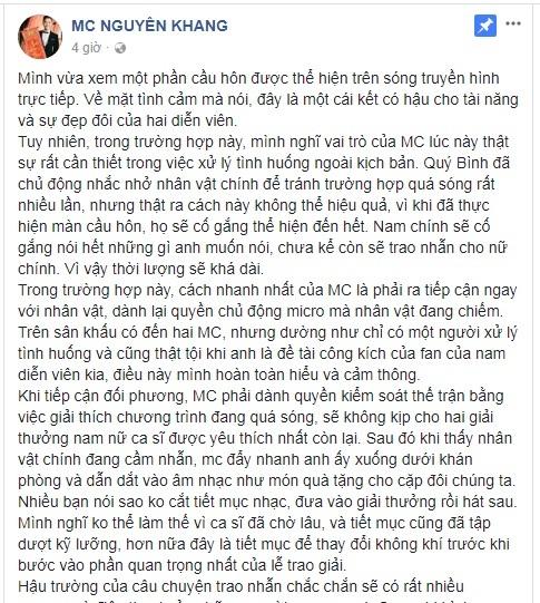Loạt MC lên tiếng vụ Trường Giang cướp sóng cầu hôn