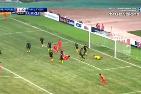 U23 Hàn Quốc 1-0 U23 Malaysia: Phút 21