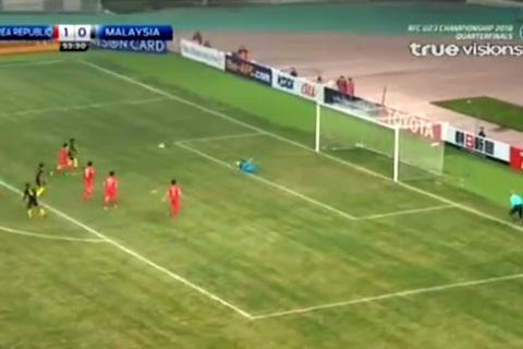 U23 Hàn Quốc 1-0 U23 Malaysia: Phút 54