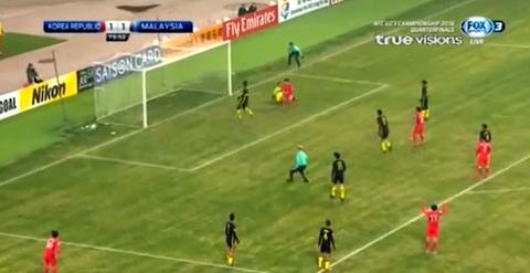 U23 Hàn Quốc 1-1 U23 Malaysia: Phút 76