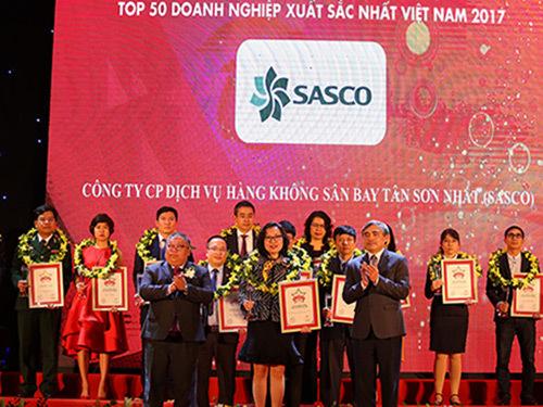 Sasco liên tiếp xếp hạng 50 doanh nghiệp xuất sắc nhất VN