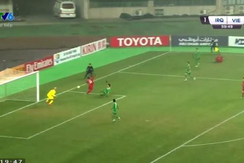 U23 Việt Nam 1-1 U23 Iraq: Phút 60