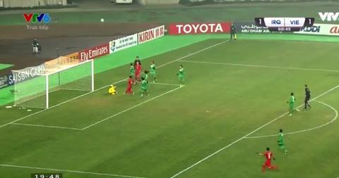 U23 Việt Nam 1-1 U23 Iraq: Phút 61