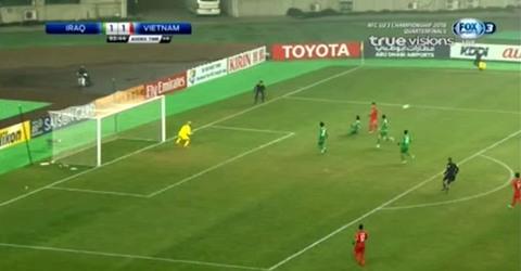 U23 Việt Nam 1-1 U23 Iraq: Phút 90'+4