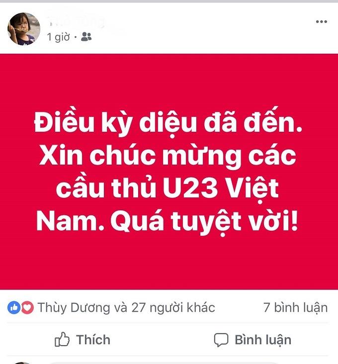 U23 Việt Nam lập kỳ tích, người hâm mộ ăn mừng theo cách độc lạ