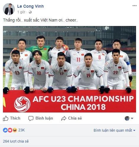 Công Vinh thán phục chiến công của U23 Việt Nam