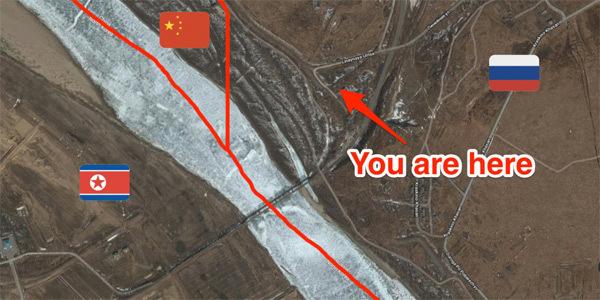 Hình ảnh con đường nối Nga với Triều Tiên