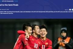 AFC nhầm lẫn, gạch tên U23 Việt Nam ra khỏi bán kết