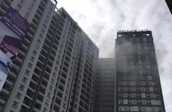 Chập điện, khói đen bao trùm tòa nhà cao nhất Hải Phòng