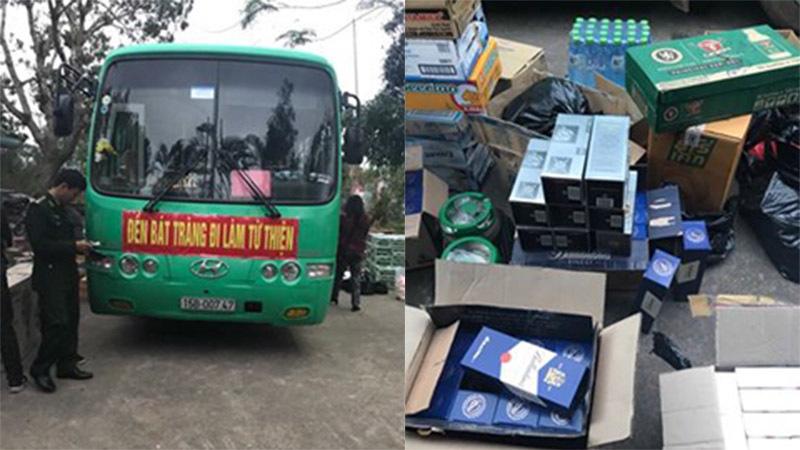 Lợi dụng làm từ thiện để vận chuyển hàng lậu