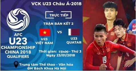 đội tuyển U23 Việt Nam,bán kết U23 châu Á,U23 Việt Nam,U23 Qatar