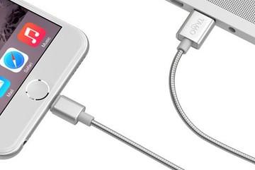 Cáp sạc iPhone bằng thép, vặn xoắn gập thoải mái