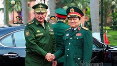 Đại tướng Ngô Xuân Lịch chủ trì lễ đón Bộ trưởng Quốc phòng Nga