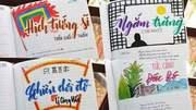 Đã mắt với cuốn vở soạn bài môn Văn ấn tượng của nữ sinh lớp 8