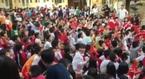 Học sinh cả nước hò reo cổ vũ U23 Việt Nam giữa sân trường