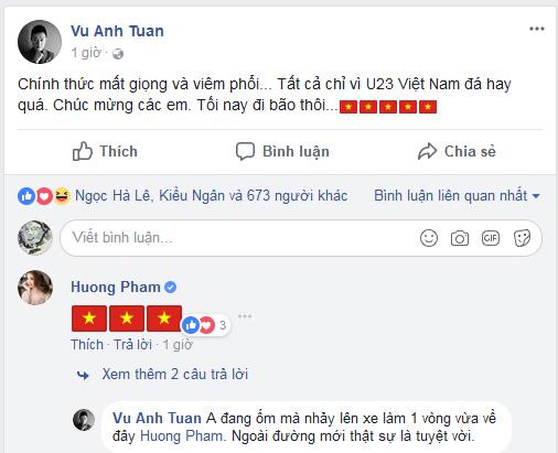 Sao Việt vỡ oà hạnh phúc khi U23 Việt Nam thắng bán kết