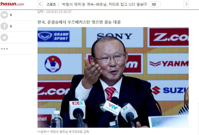 Báo Hàn Quốc vẽ cổ tích U23 Việt Nam và 'phù thủy' Park