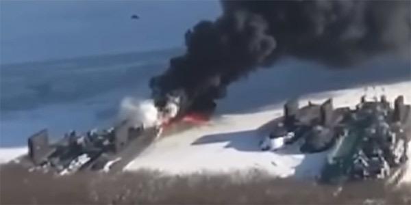 Tàu ngầm Kilo Nga bốc cháy