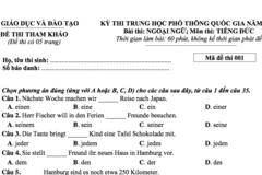 Đề thi minh họa môn Ngoại ngữ - tiếng Đức kỳ thi THPT quốc gia 2018