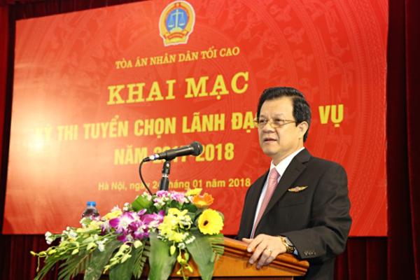 Toà án nhân dân Tối cao thi tuyển 4 lãnh đạo cấp vụ