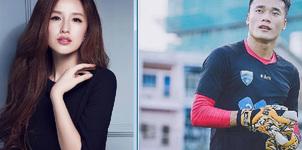 Hoa hậu Mai Phương Thúy gọi thủ môn Bùi Tiến Dũng là 'cháu'