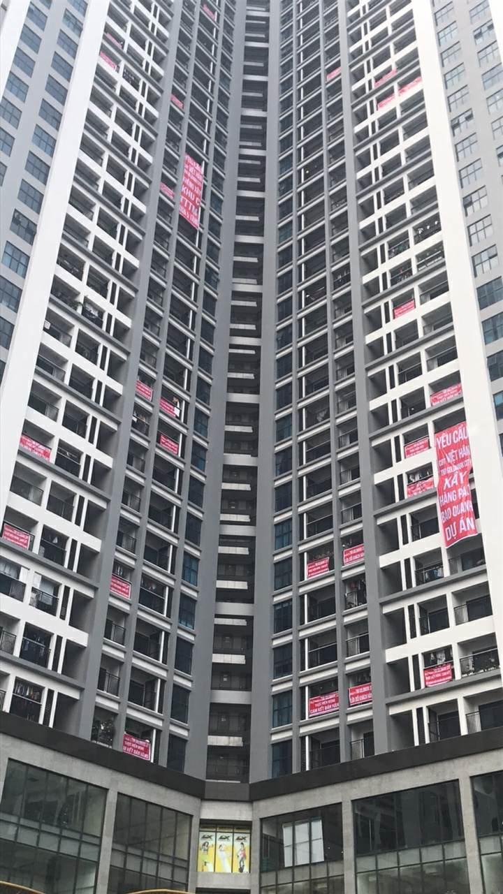 tranh chấp chung cư,phong trào căng băng rôn,phí bảo trì chung cư