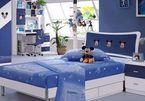 Nội thất phòng ngủ trẻ em với gam màu xanh lam
