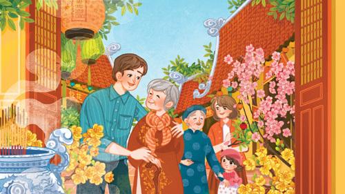 Bố mẹ mong ước gì khi Tết đến Xuân sang?