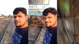 Chụp ảnh selfie điên rồ trước đầu tàu hoả, người xem run sợ