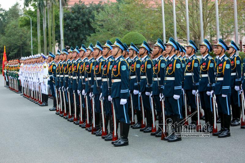 Đại tướng Ngô Xuân Lịch chủ trì lễ đón Bộ trưởng Quốc phòng Mỹ