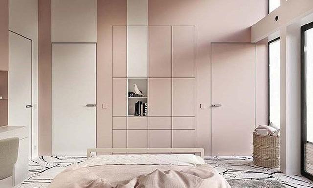 Phòng ngủ màu hồng vừa lạ vừa sang trọng