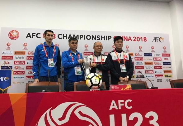 U23 Việt Nam, HLV Park Hang Seo, U23 Uzbekistan